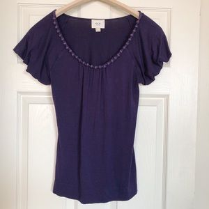 eci Purple Short-Sleeved T-shirt Top,  Small ⬇️